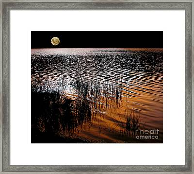 Moonrise After Sunset Framed Print