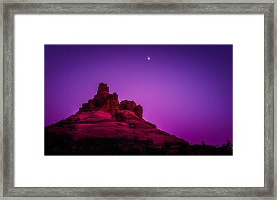 Moonrise Bell  Framed Print by Roger Chenery