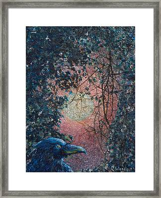 Framed Print featuring the mixed media Moonrise by Carla Woody