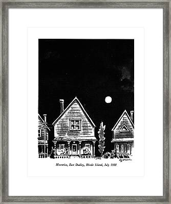 Moonrise, East Dudley, Rhode Island, July 1988 Framed Print by Eldon Dedini