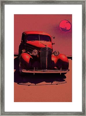 Moonrise Graphic Framed Print