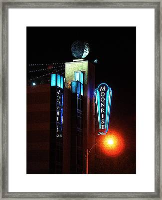 Moonrise Hotel Framed Print