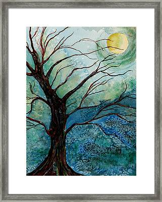 Moonrise In The Wild Night Framed Print