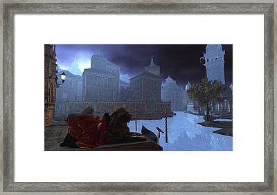 Moonrise In Venice Framed Print