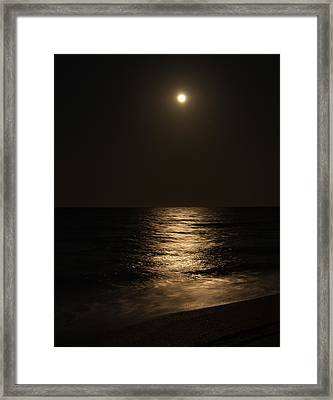 Moon Over Water Framed Print by John M Bailey