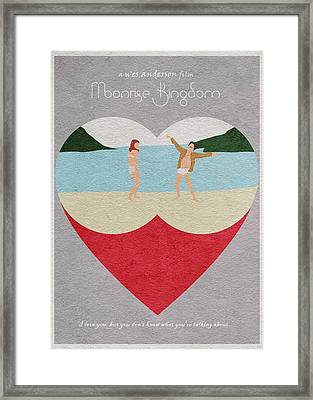 Moonrise Kingdom Framed Print by Ayse Deniz