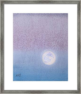 Framed Print featuring the painting Moonrise by Margaret Bobb