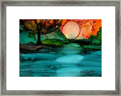 Moonrise Framed Print by Marionette Taboniar