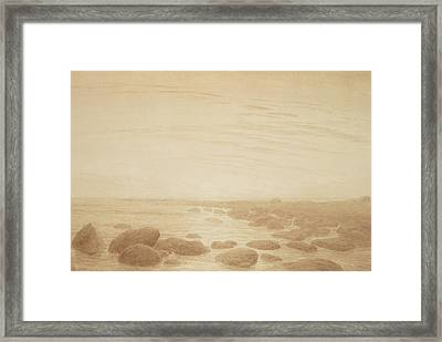 Moonrise On The Sea Framed Print