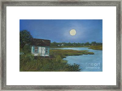 Moonrise Orient Point Framed Print