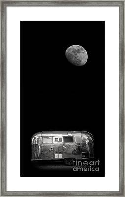 Moonrise Over Airstream Framed Print by Edward Fielding