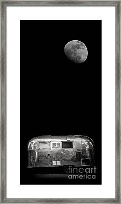 Moonrise Over Airstream Phone Case Framed Print by Edward Fielding