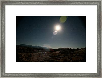 Moonrise Over Arches Framed Print
