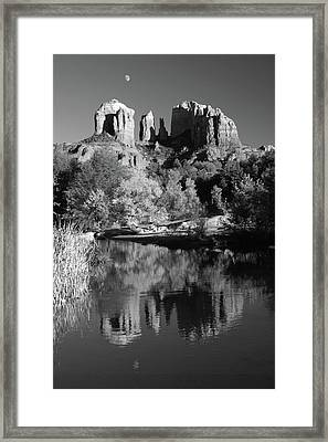 Moonrise Over Cathedral Rocks Framed Print