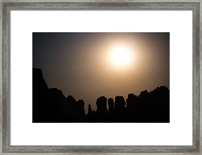 Moonrise Over Eden Framed Print