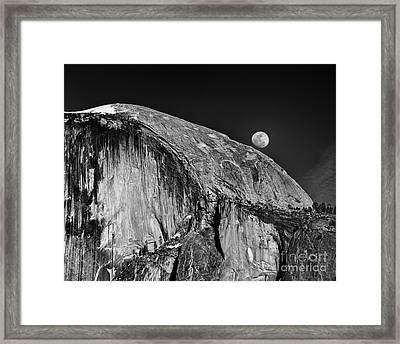Moonrise Over Half Dome Framed Print