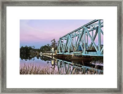 Moonrise Over Milton Framed Print