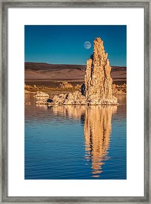 Moonrise Over Mono Lake Framed Print