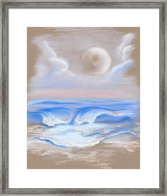 Moonrise Over Myrtle Beach Framed Print by MM Anderson