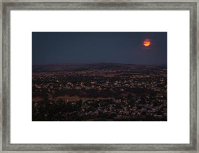 Moonrise Over Paso Framed Print