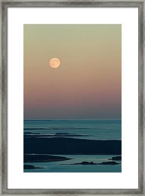 Moonrise Over Schoodic Point Framed Print
