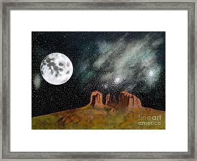 Moonrise Over Sedona Framed Print