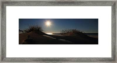 Moonrise Over The Dunes Framed Print