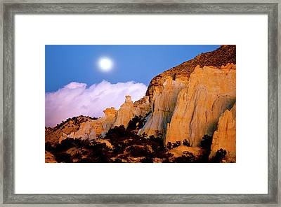 Moonrise Over The Kaiparowits Plateau Utah Framed Print