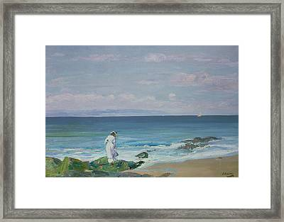 Moonrise Framed Print by Sir John Lavery