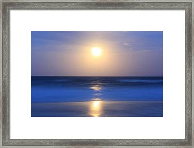 Moonrise Framed Print by Thomas Leon