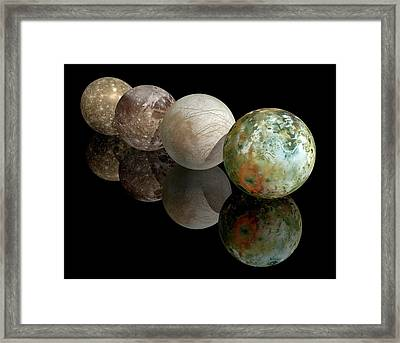 Moons Of Jupiter Framed Print by Carlos Clarivan