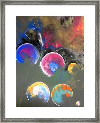 Moons Of Jupiter Framed Print by Thomas Petrizzo