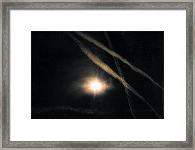 Moons Stars Jets And Something Else Framed Print by Christy Usilton