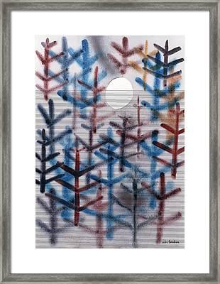 Moonscape, 1988 Wc Framed Print