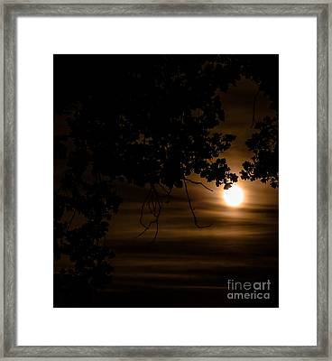 Moonscape Framed Print by Optical Playground By MP Ray