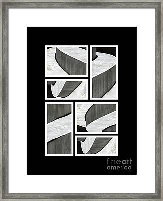 Moonscapes. Abstract Photo Collage 01 Framed Print