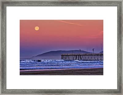 Moonset Framed Print