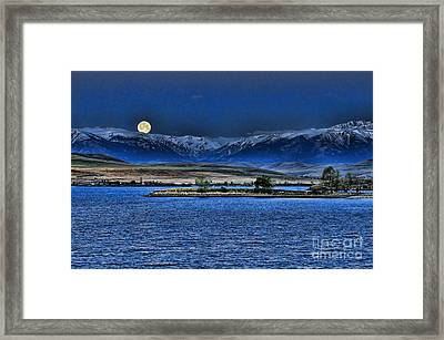 Moonset Over Cooney Framed Print