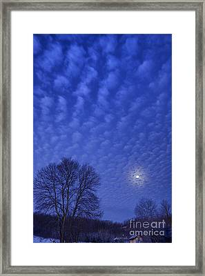 Moonset Over Mountains Framed Print by Thomas R Fletcher