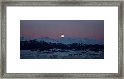 Moonset Over The Great Divide Framed Print by Patrick Derickson