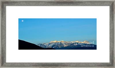 Moonset Over Timpanogos Framed Print