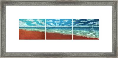 Moonset Triptych Framed Print