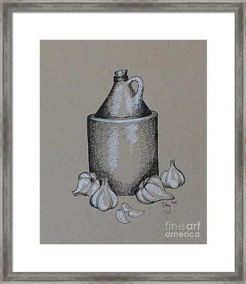 Moonshine And Garlic Framed Print