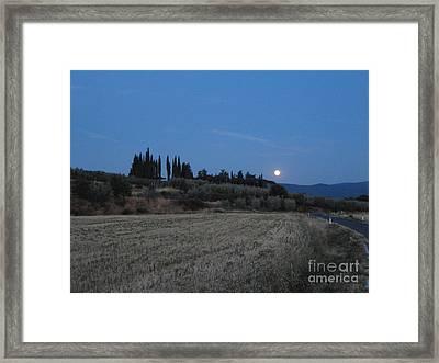 Moonshine In Arezzo Framed Print