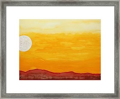 Moonshine Original Painting Sold Framed Print by Sol Luckman