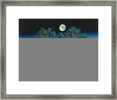 Moonshine Sonata, 2006 Oil On Canvas Framed Print by Magdolna Ban