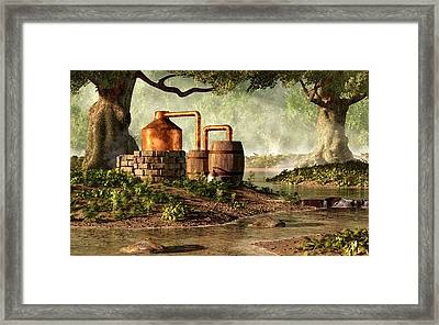 Moonshine Still 1 Framed Print