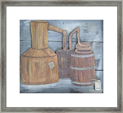 Moonshine Still Framed Print by Eric Cunningham