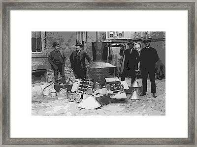 Moonshine Still Prohibition 1922 Framed Print by Daniel Hagerman