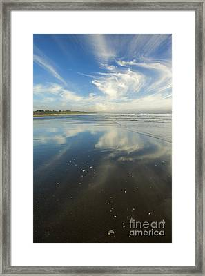 Moonstone Beach Reflections Framed Print by Mike  Dawson